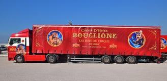 Cirque d`Hiver-Bouglione is a popular show originating at 110 Rue Amelot , Paris Stock Image