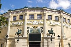 Cirque d Hiver wejściowy (Paryski Francja) Obrazy Stock