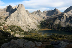 Cirque das torres, escala de Wind River, Wyoming Imagens de Stock