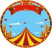 Cirque de beau jour d'autocollant photos stock