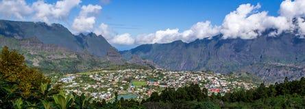 Cirque de Cilaos i La Reunion Island Royaltyfria Bilder