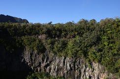 Cirque de Cilaos, La Reunion Island, l'Océan Indien Images libres de droits