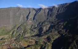 Cirque de Cilaos, La Reunion Island, l'Océan Indien Photo libre de droits