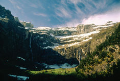 Cirque de Gavarnie at dawn, France Royalty Free Stock Photography