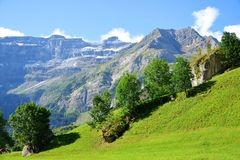 Cirque de Gavarnie in the French Pyrenees. Royalty Free Stock Photos