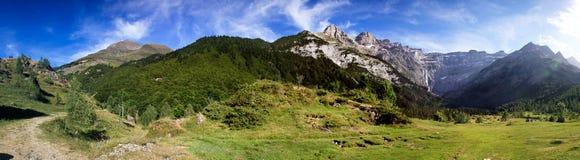 панорама cirque de gavernie Стоковое Фото