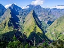 Cirque de Mafate in La Reunion island Stock Photo