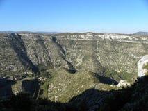 Cirque de navacelles, μια κοιλάδα στη Γαλλία στοκ φωτογραφίες