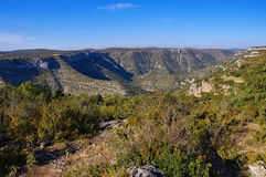 Cirque de Navacelles in southern France Royalty Free Stock Image