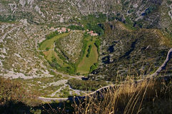 Cirque de Navacelles in southern France royalty free stock images