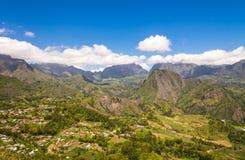CIrque de Salazie and Hell-bourg, la Reunion. CIrque de Salazie and Hell-bourg seen from above, la Reunion Island Royalty Free Stock Images