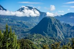 Cirque de Salazie i La Reunion Island Royaltyfria Bilder