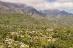 Cirque de Salazie und Hölle-bourg, La Réunion lizenzfreies stockbild
