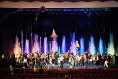 Cirque des fontaines AKVAMARIN de danse photo stock