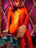 cirque du skyltdocka soleil Royaltyfri Bild