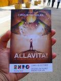 Cirque du Soleil, Ausstellung 2015, Mailand Lizenzfreies Stockfoto