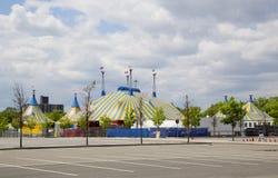 Cirque du Soleil -circustent bij Citi-Gebied in New York Stock Fotografie