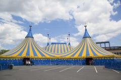 Cirque du Soleil cirkustält på det Citi fältet i New York Arkivfoton