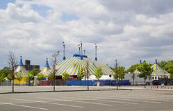 Cirque Du Soleil cyrkowy namiot przy Citi polem w Nowy Jork Fotografia Stock