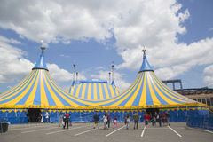 Cirque Du Soleil cyrkowy namiot przy Citi polem w Nowy Jork Zdjęcia Stock