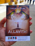 Cirque du Soleil, expo 2015, Milão Foto de Stock Royalty Free