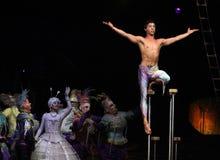 Cirque du Soleil führt ` Alegria-` durch stockbild