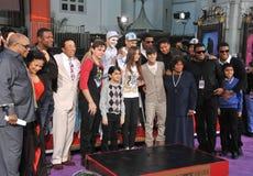 Cirque du Soleil, Justin Bieber, Katherine Jackson, Michael Jackson, Prince, Quincy Jones, Tito Jackson Royalty Free Stock Images