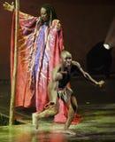 Cirque du Soleil presteert stock foto