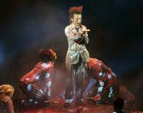 Cirque du Soleil presteert stock afbeeldingen