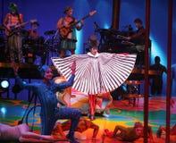 Cirque du Soleil presteert royalty-vrije stock foto