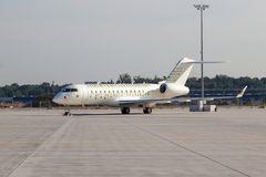 Cirque du Soleil Private Jet at the Frankfurt Airport Stock Photography