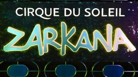 Cirque du Soleil tecken arkivfoton