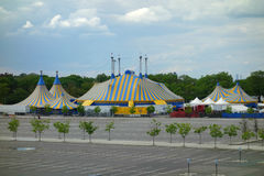 Cirque du Soleil Tents. The Cirque du Soleil tents in Queens, New York. Cirque du Soleil is the largest theatrical producer in the world Stock Photography