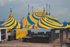 Cirque Du Soleil Village - OVO, 25. Jahrestag Stockfotografie