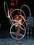 Cirque du Soleil voert ` Kooza ` uit stock afbeelding