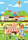 Cirque en ville Photos libres de droits
