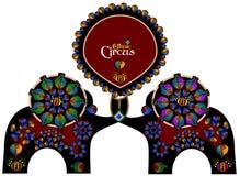 Cirque ethnique illustration de vecteur