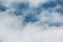 Cirque of Gavarnie. View of some magneficient mountains at the Pyrenees in the 'cirque of Gavarnie Stock Images