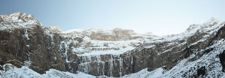 Cirque of Gavarnie in winter Royalty Free Stock Photography
