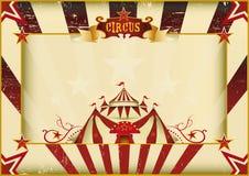 Cirque grunge horizontal illustration de vecteur