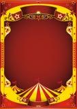 Cirque jaune avec le grand dessus Image stock