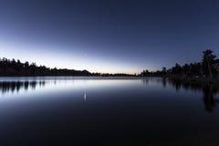 Cirque jeziora świt Obrazy Royalty Free