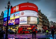 Cirque Londres, Angleterre de Piccadilly le R-U Photos stock