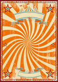 Cirque orange rétro Photo stock