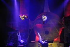 Cirque's show Eoloh Stock Photos