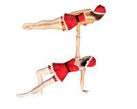 cirque santa κοριτσιών Απεικόνιση αποθεμάτων