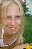 Ciérrese encima de blonde Imágenes de archivo libres de regalías