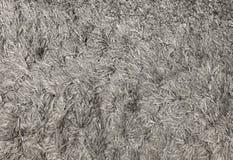Ciérrese encima de Gray Fluffy Fabric Texture Background Foto de archivo libre de regalías