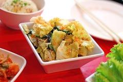 Ciérrese encima de la ensalada coreana picante de la col Imagen de archivo