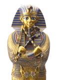 Ciérrese encima de la estatua egipcia vieja del faraón Foto de archivo libre de regalías
